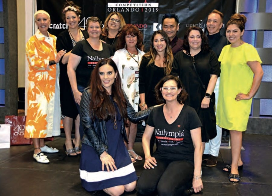 CHERYL THIBAULT RETURNS FROM JUDGING AT NAILYMPIA